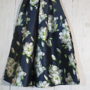 goodtime usa Skirts - goodtime usa womens navy blue floral full skirt
